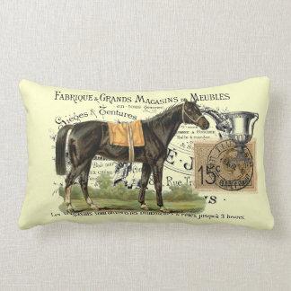 Vintage Collage Derby Champion Lumbar Pillow