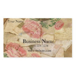 Vintage Collage, French Letters and Post Cards Business Card