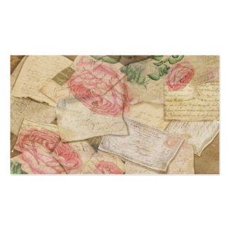 Vintage Collage, French Letters and Post Cards Double-Sided Standard Business Cards (Pack Of 100)