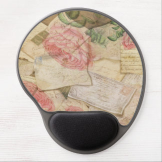 Vintage Collage, French Letters and Post Cards Gel Mouse Mat
