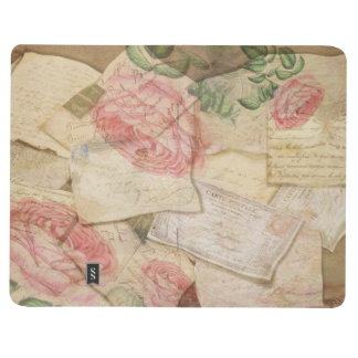 Vintage Collage, French Letters and Post Cards Journal