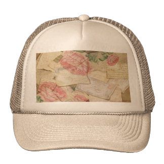 Vintage Collage, French Letters and Post Cards Trucker Hat