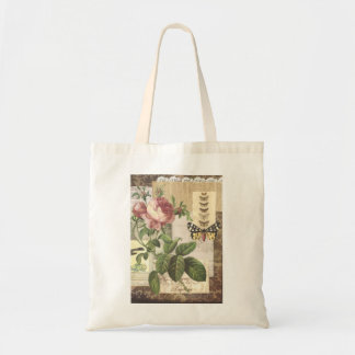 Vintage Collage in brown Magazine Tote