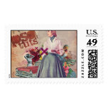 vintage collage picture postage stamp