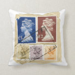Vintage Collage Queen Stamp Pillow