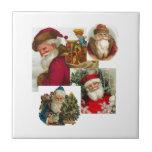 Vintage Collage Santa Tile