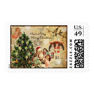 Vintage Collage Stamp