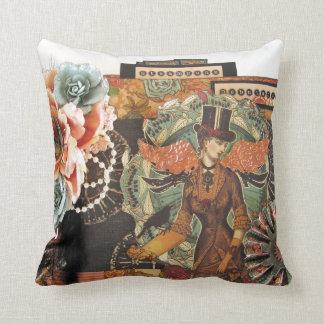 Vintage Collage Throw Pillow