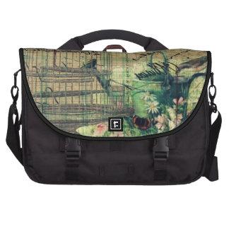 Vintage Collage w/Bird & Birdcage Garden Laptop Bag