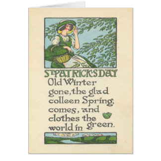Vintage Colleen Spring Shamrock St Patrick's Day Card