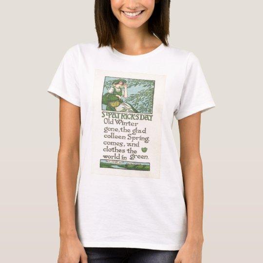 Vintage Colleen Spring Shamrock St Patrick's Day T-Shirt