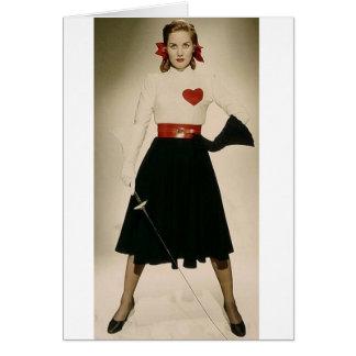 Vintage Colleen Townsend 1948 que cerca la tarjeta
