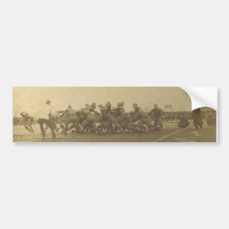 Vintage College Football Game from 1902 Car Bumper Sticker