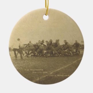 Vintage College Football Game from 1902 Ornament