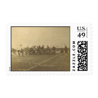 Vintage College Football Game from 1902 Postage Stamps