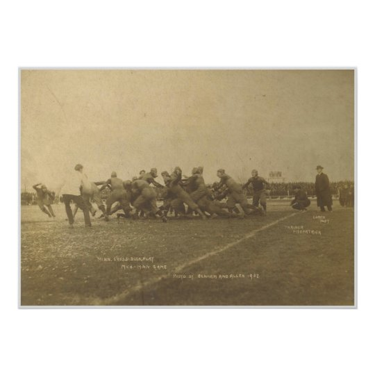Vintage College Football Game from 1902 Poster
