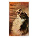 Vintage Collie and Bird Double-Sided Standard Business Cards (Pack Of 100)