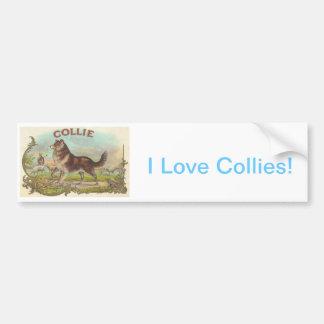 Vintage Collie Dog Bumper Sticker