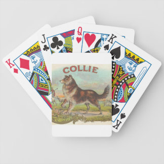 Vintage Collie Dog Playing Cards