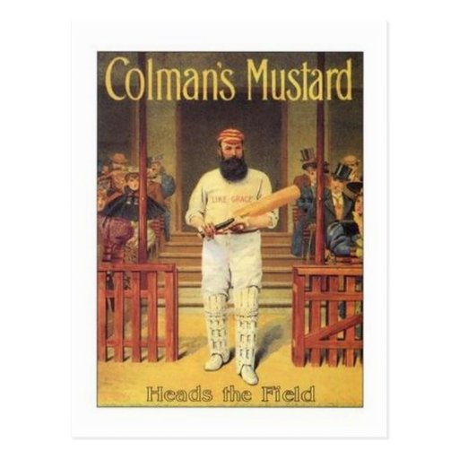 Vintage Colman's Mustard Heads the Field Cricket A Postcard