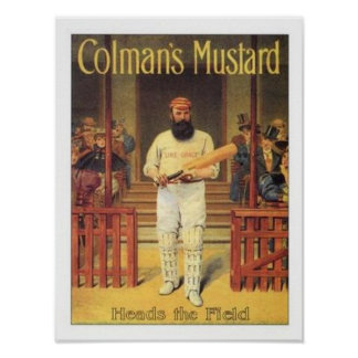 Vintage Colman's Mustard Heads the Field Cricket A Poster