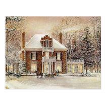 Vintage Colonial Christmas Postcard