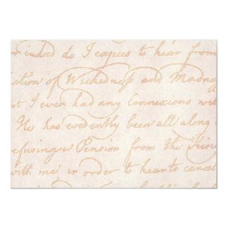 Vintage Colonial Cream Beige Text Parchment Paper Card
