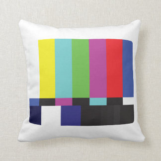 Vintage Color Bars TV Signal Test Pattern Throw Pillow