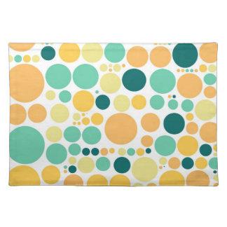 Vintage Color Polka Dots   Abstract Art Cloth Place Mat