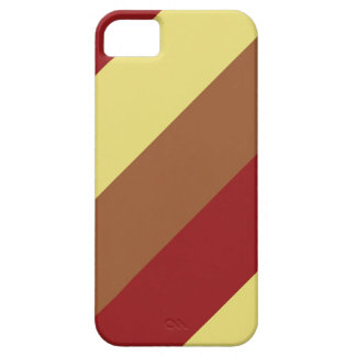 Vintage Color Red Brown Yellow Retro Stripes iPhone SE/5/5s Case
