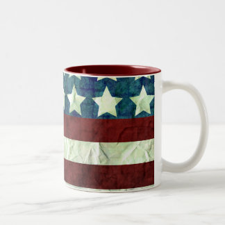 Vintage Color USA background Two-Tone Coffee Mug
