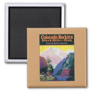 Vintage Colorado Black Hills Imán Cuadrado