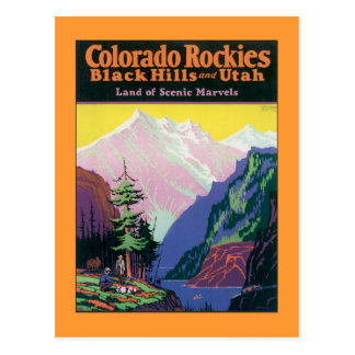 Vintage Colorado Black Hills Postcard