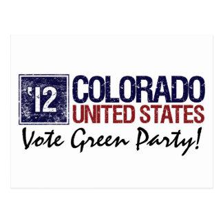Vintage Colorado del Partido Verde del voto en 201 Postales