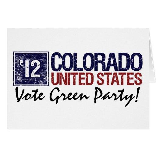 Vintage Colorado del Partido Verde del voto en Tarjeta De Felicitación