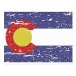 Vintage COLORADO Flag Post Cards