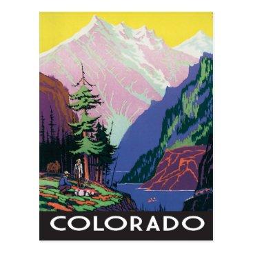 Beach Themed Vintage Colorado scene Postcard
