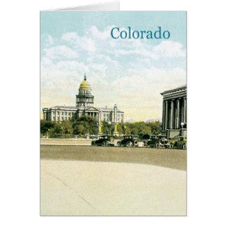 Vintage Colorado State Capitol Card