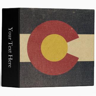 Vintage Colorado State Flag 3 Ring Binder
