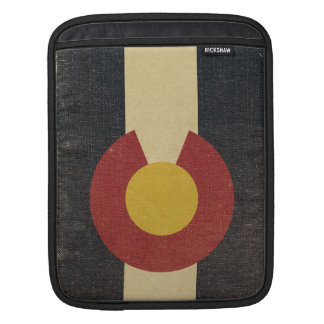 Vintage Colorado State Flag iPad Sleeve