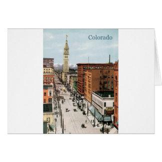 Vintage Colorado Street Scene Card
