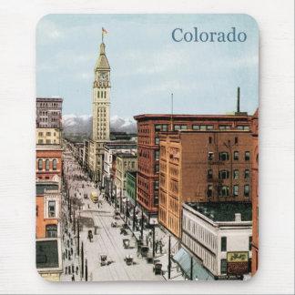 Vintage Colorado Street Scene Mouse Pad