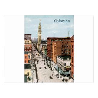 Vintage Colorado Street Scene Postcard
