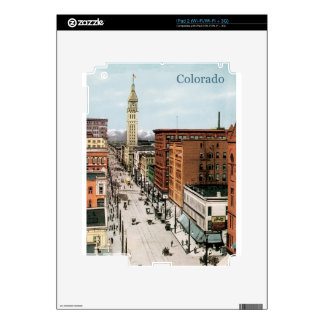 Vintage Colorado Street Scene Decal For The iPad 2