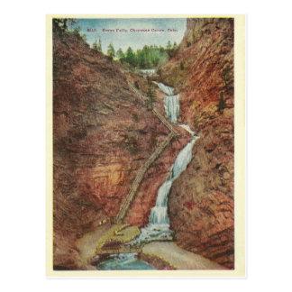 Vintage Colorado Water Falls Postcard