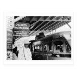Vintage coloreado de la sala de espera tarjetas postales