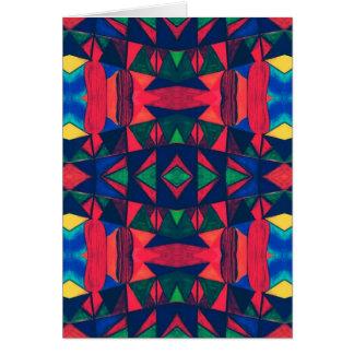 Vintage Colorful Aztec Design Card