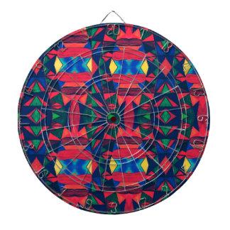 Vintage Colorful Aztec Design Dartboard