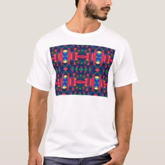 Vintage Colorful Aztec Design T-Shirt