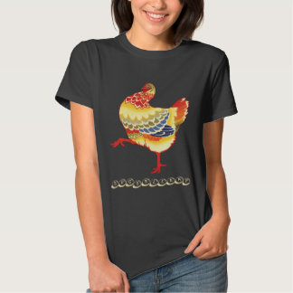 Vintage Colorful Barnyard Chicken, Eggsellent T Shirt